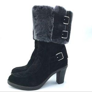 Johnson & Murphy Jeanie Shearling Cuffed Boots